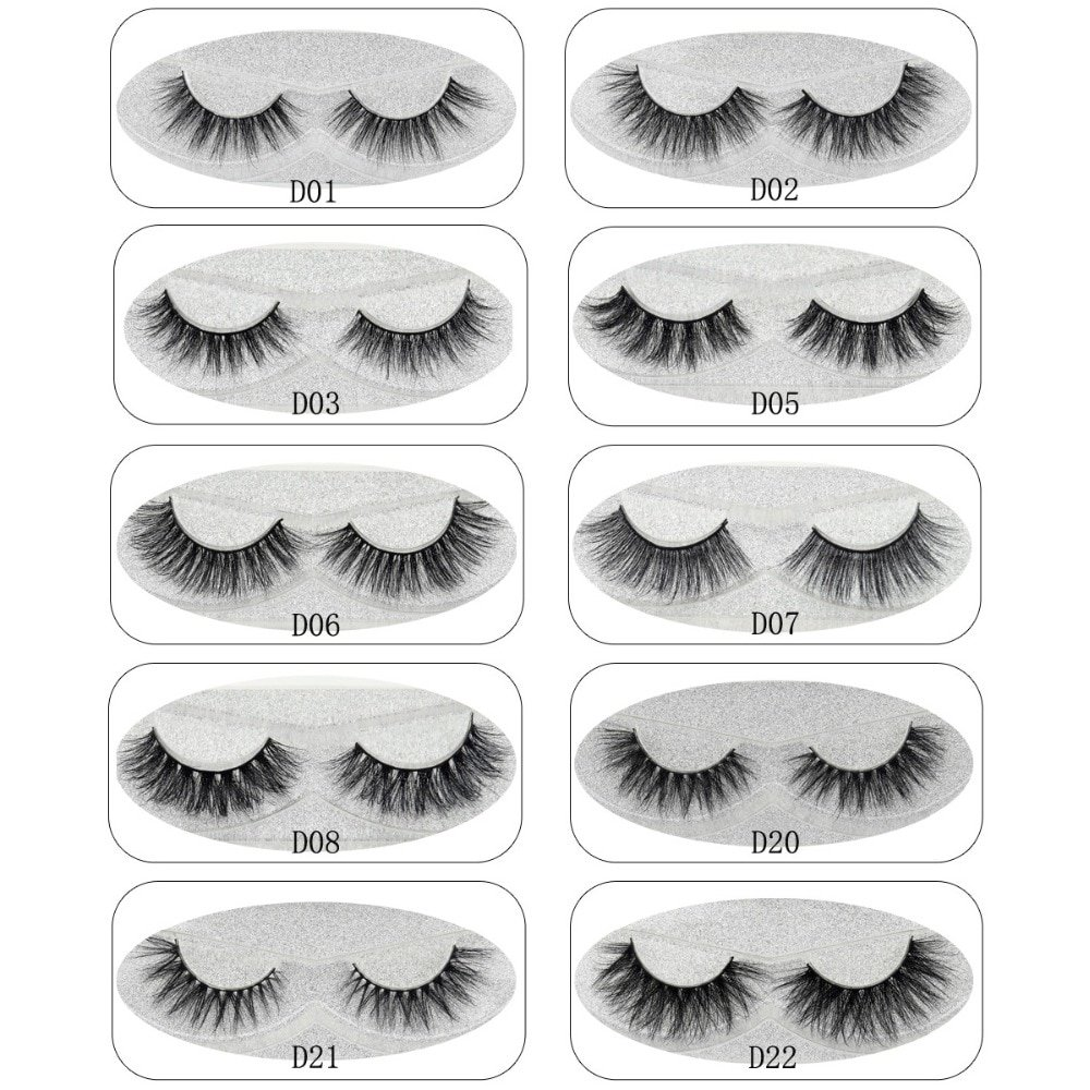02a8a39b22c Lash Mink Eyelashes 3D Mink Hair Lashes Wholesale 100% Real Mink Fur  Handmade Crossing Lashes Thick Lash 11 Styles New 1Pair