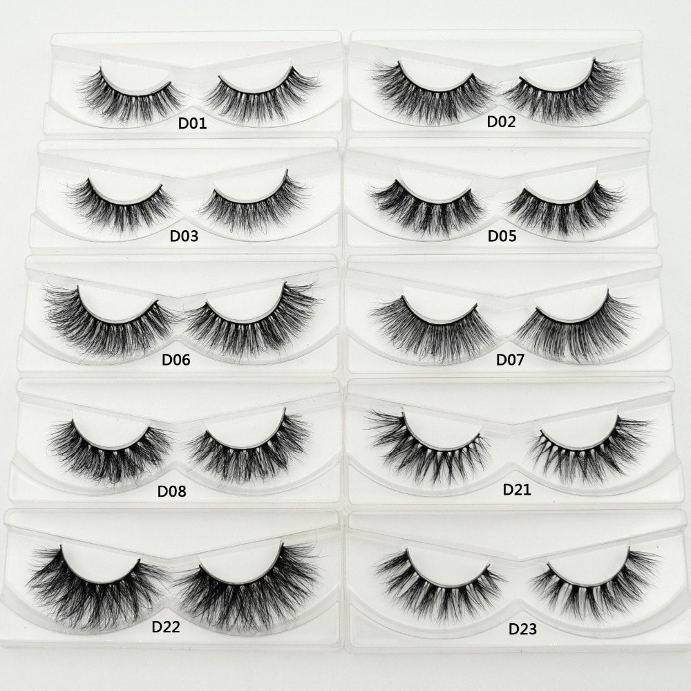 4eeeaedccfd Lash Mink Eyelashes 3D Mink Hair Lashes Wholesale 100% Real Mink Fur  Handmade Crossing Lashes Thick Lash 11 Styles New 1Pair