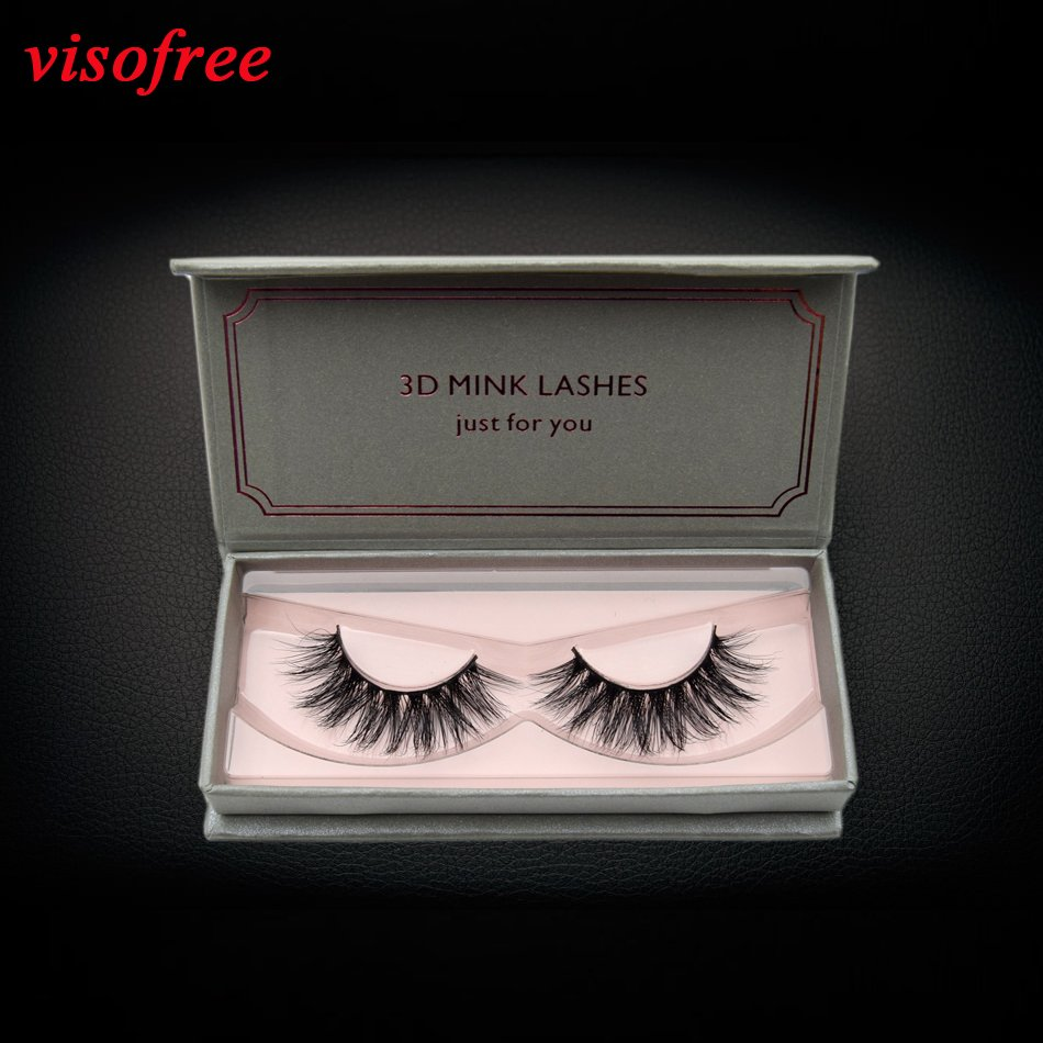 e5d8f031a03 visofree eyelashes 3D Mink Lashes Full Strip Lashes False Eyelashes  Handmade Mink Lashes Cruelty free Reusable Upper Lashes D22