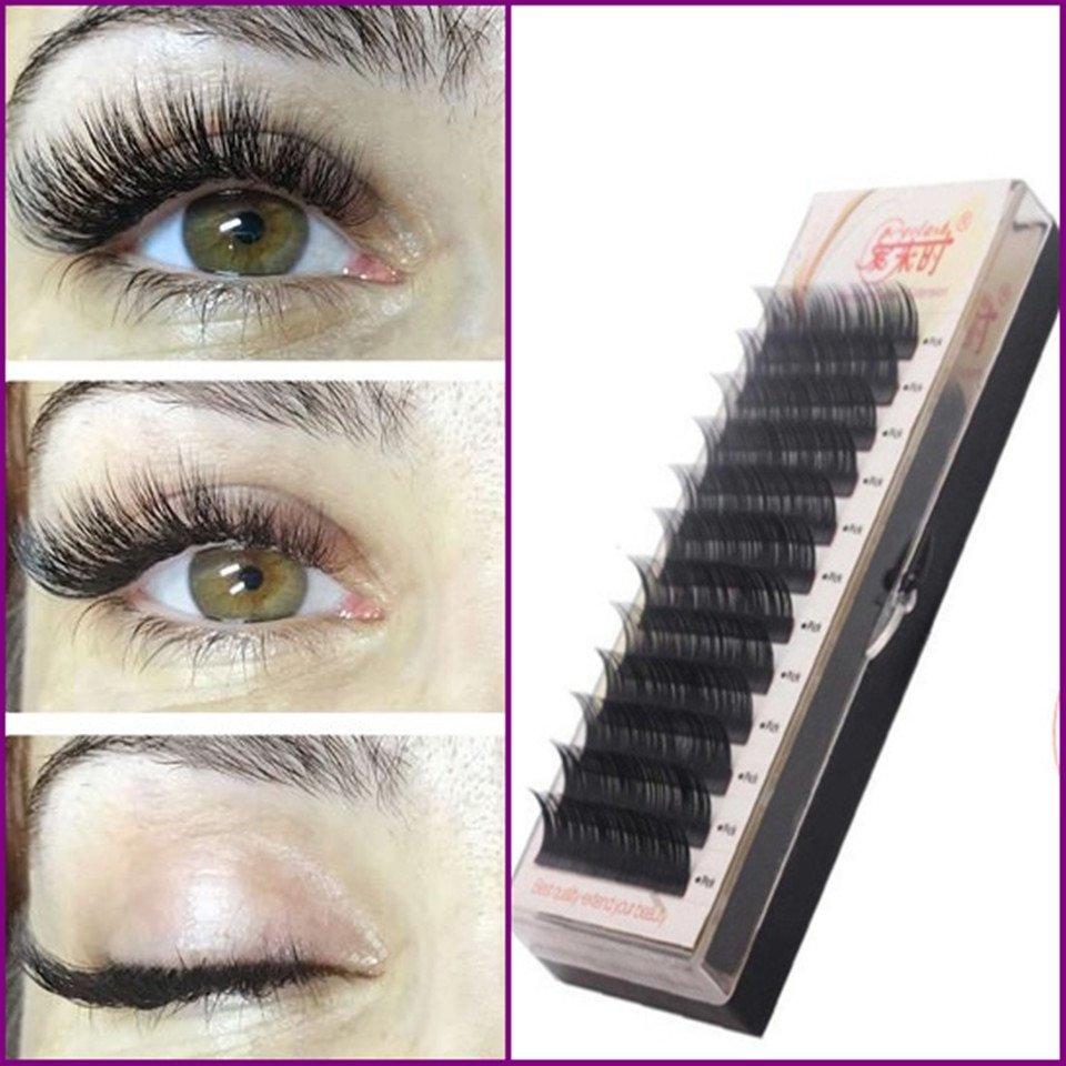 fa1f1d549c9 Free Shipping Individual Silk Eyelash Further All size,High Quality Eyelash  Extension Mink,Individual Eyelash Extensions
