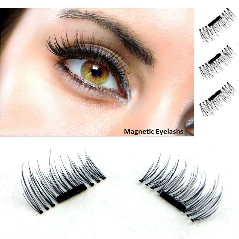 b65f2cbd224 4 Pcs/Pairs Magnetic Eyelashes Extension Eye Beauty Makeup Accessories Soft  Hair Magnetic Eyelashes Dropship False Eyelashes
