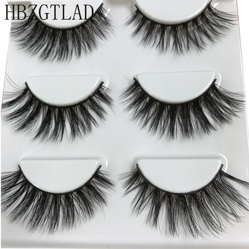 5b8391e572b HBZGTLAD Sexy 100% Handmade 3D mink hair Beauty Thick Long False Mink  Eyelashes Fake Eye Lashes Eyelash High Quality