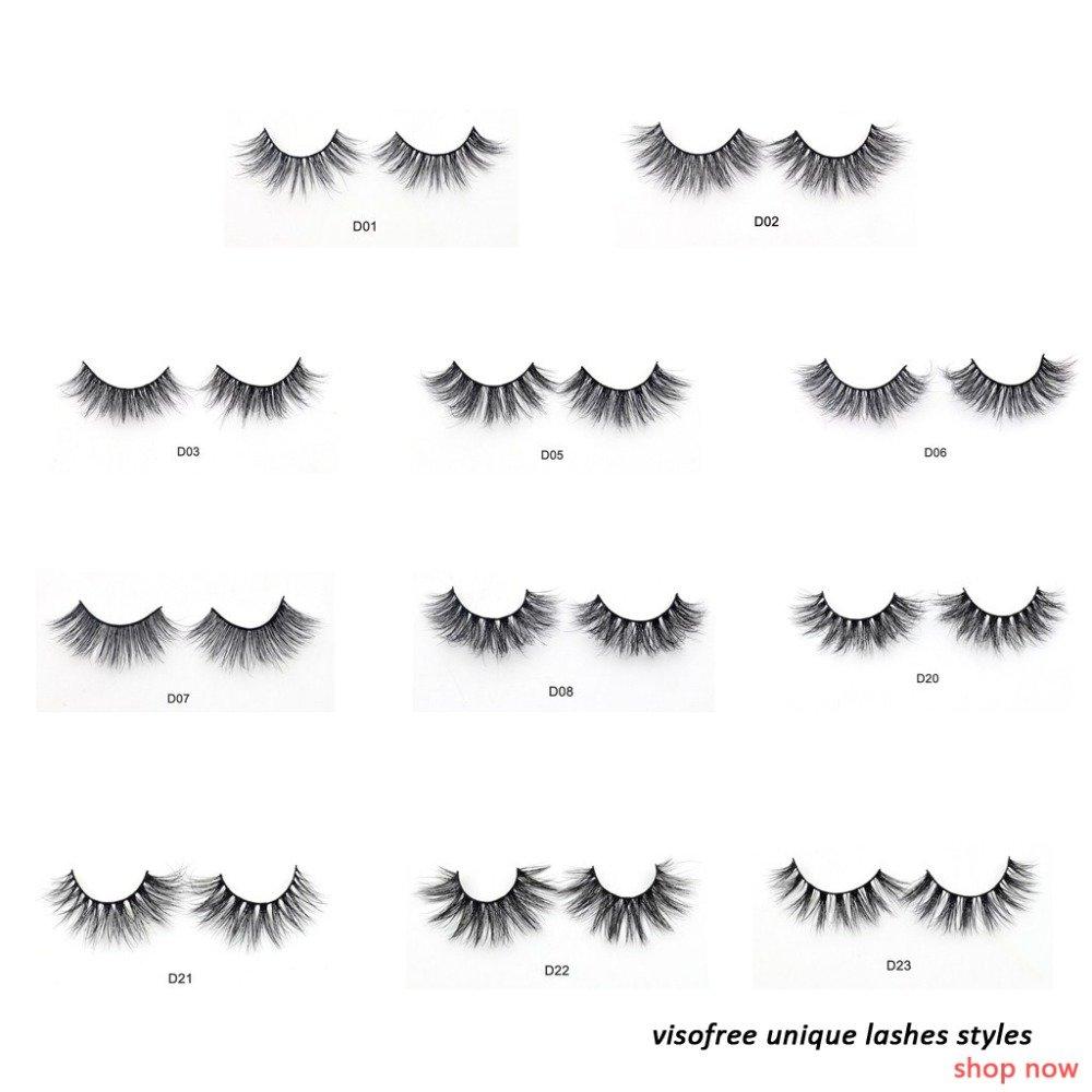 bcfdafa919d Visofree Eyelashes 3D Mink Lashes Luxury Hand Made Mink Eyelashes Medium  Volume Cruelty Free Mink False Eyelashes Upper Lashes