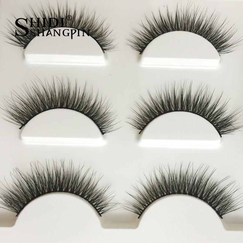 a80717c3f5d New 3 pairs natural false eyelashes fake lashes long makeup 3d mink lashes  extension eyelash mink eyelashes for beauty #X11